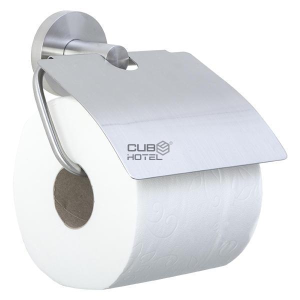 Portarrollos papel higi nico acero inoxidable satinado for Portarrollos papel higienico